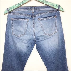 Current/Elliott Jeans - current/elliot the cropped straight jean raw hem